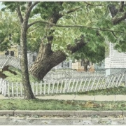 <b>Dublin and Chebucto, Day 11</b><br/>2003<br/>Watercolour, pen & pencil on paper<br/>7.5 x 15 inches