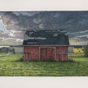 <b>Port Hood Barn</b><br/>2019<br/>Watercolour, pen & pencil on paper<br/>5 x 10 inches