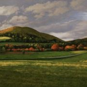 <b>Mabou Hillside</b><br/>2018<br/>Oil on Canvas<br/>24 x 72 inches