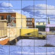 <b>54 Postcards of Gottingen Street</b><br/>2003<br/>Oil on Plywood<br/>36 x 72 inches