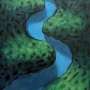 <b>The River</b><br/>1995<br/>Oil on Canvas<br/>48 x 32 inches