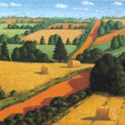 <b>Hillside, PEI </b><br/>2007<br/>Oil on Canvas<br/>26 x 40 inches