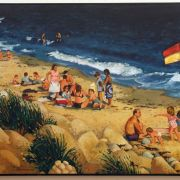 <b>Queensland Beach</b><br/>1996<br/>Oil on Canvas<br/>32 x 48 inches