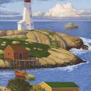 <b>Lighthouse at the Cove</b><br/>2015<br/>oil on canvas<br/>24 x 18 inches