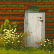 <b>Shed With Queen Anne's Lace</b><br/>2011<br/>Oil on Canvas<br/>30x 48 inches