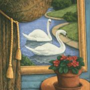 <b>Still Life With Swans</b><br/>2007<br/>Oil on Canvas<br/>24 x 20 inches