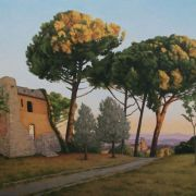 <b>San Gimignano Sunrise</b><br/>2012<br/>Oil on Canvas<br/>24x 36 inches
