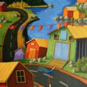 <b>Eastern Seaboard</b><br/>2010<br/>Oil on Canvas<br/>60 x 30 inches