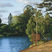 <b>Lake in Summer</b><br/>2003<br/>oil on canvas<br/>14 x 22.5 inches