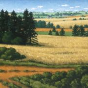 <b>Summer Pastoral</b><br/>2003<br/>Oil on Canvas<br/>14.5 x 22.5 inches