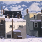 <b>10 AM in Winter</b><br>2003<br>oil on canvas<br>22 x 40 inches