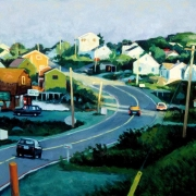 <b>Approaching West Dover</b><br>1998<br>oil on canvas<br>16 x 26 inches