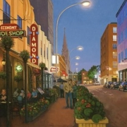 <b>Argyle at Night</b><br>2010<br>Oil on canvas<br>30