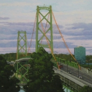 <b>Bridge at Dusk</b><br>2007<br>oil on canvas<br>15 x 20 inches