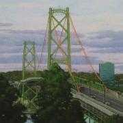 <b>Bridge at Dusk</b><br>2007<br>oil on canvas<br>15 x 20 inches