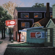 <b>Early Tuesday Evening</b><br>1998<br>oil on canvas<br>27 x 36 inches