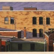 <b>Green Lantern Building</b><br>2003<br>oil on canvas<br>33 x 72 inches