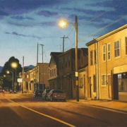 <b>Agricola Skyline</b><br>2010<br>oil on canvas<br>18 x 36 inches