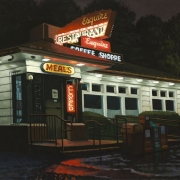 <b>Esquire Coffee Shop</b><br>2010<br>oil on canvas<br>20 x 30 inches