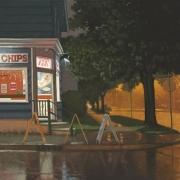 <b>Warm Summer Rain</b><br>2010<br>oil on canvas<br>24 x 36 inches
