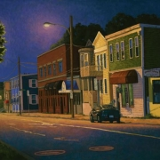 <b>Agricola at Night</b><br>2008<br>oil on canvas<br>24 x 36 inches