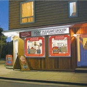 <b>Pleasant Point Grocery</b><br>2010<br>oil on canvas<br>18 x 36 inches