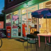 <b>Jubilee Road</b><br>2010<br>oil on canvas<br>18 x 36 inches