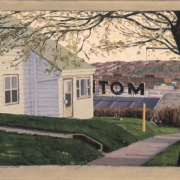 <b>Motel in Spring</b><br>2003<br>oil on canvas<br>16 x 24 inches