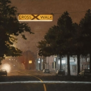 <b>The Crosswalk</b><br>2007<br>oil on canvas<br>15 x 20 inches