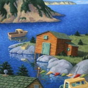 <b>The Inlet</b><br>2001<br>oil on canvas<br>21 x 28 inches