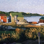 <b>Rout 333 East</b><br>1998<br>oil on canvas<br>18 x 40 inches