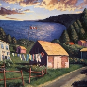 <b>Along the Bras d'Or Lakes</b><br>1998<br>oil on canvas<br>34 x 40 inches