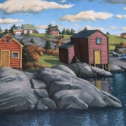 <b>Hunting and Fishing</b><br>2004<br>oil on canvas<br>30 x 40 inches