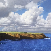 <b>Cliffs, PEI </b><br>2002<br>oil on canvas<br>24 x 36 inches