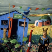 <b>West Coast Cape Breton</b><br>1998<br>oil on canvas<br>48 x 48 inches