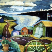 <b>Along the Bras d'or Lakes 2</b><br>1998<br>oil on canvas<br>28 x 36 inches