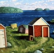 <b>The Point</b><br>1997<br>oil on canvas<br>30 x 40 inches