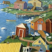 <b>Coastal Arrangement</b><br>1999<br>oil on canvas<br>68 x 33 inches
