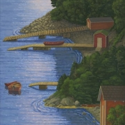 <b>Along the Bay</b><br>2010<br>oil on canvas<br>48 x 24 inches