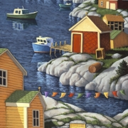 <b>Along the Shore</b><br>2003<br>oil on canvas<br>60 x 30 inches