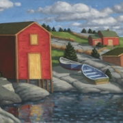 <b>At Blue Rocks</b><br>2005<br>oil on canvas<br>12 x 24 inches