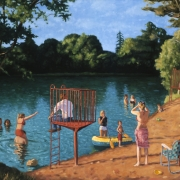 <b>Chocolate Lake</b><br>2000<br>oil on canvas<br>30 x 40 inches