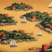 <b>Islands</b><br>2008<br>oil on canvas<br>24 x 48 inches