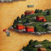 <b>Island Passage</b><br>2008<br>oil on canvas<br>36 x 18 inches