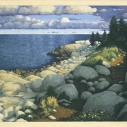 <b>The Rocky Point</b><br>2005<br>oil on canvas<br>30 x 40 inches