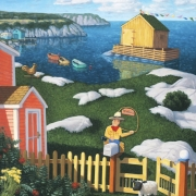 <b>Welcome to the East Coast</b><br>2002<br>oil on canvas<br>30 x 36 inches
