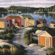 24 x 30 inches<b>West Dover Sheds</b><br>2003<br>oil on canvas<br>