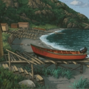 <b>Lark Harbour</b><br>2005<br>oil on canvas<br>14 x 22.5 inches