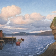 <b>The Cove</b><br>2006<br>oil on canvas<br>20 x 36 inches