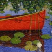 <b>Among the Lilies</b><br>2008<br>oil on canvas<br>24 x 48 inches